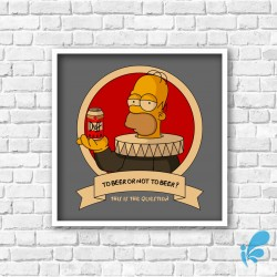 Quadro Simpsons - To Beer or Not To Beer